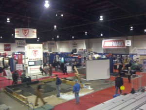 Panroamic view of part of ROFTech 2013, the premier Canadian roofing expo and conference.